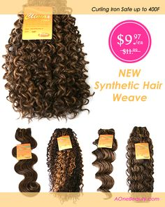 $9.97 - New Synthetic Hair Weave On Sale Now http://www.aonebeauty.com/synthetic-weave/?sort=newest ‪#‎wig‬ ‪#‎weave‬ ‪#‎braids‬ ‪#‎hairextensions‬ ‪#‎hair‬