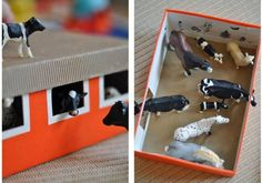 Love that SHOE BOXES have so many uses! Like this DIY Farmyard Barn. Check out these other ideas of things to make with kids: http://www.under5s.co.nz/shop/Hot+Topics/Activities/Things+to+make.html?ppp=1000