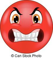 Angry smiley emoticon cartoon - Vector illustration of Angry.