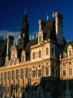 Exterior of Hotel De Ville, Paris, France