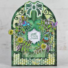 Double Dot, Shaped Cards, Heartfelt Creations, Crystal Drop, Summer Wreath, Flower Shape, Blank Cards, Greeting Cards Handmade, Cardmaking