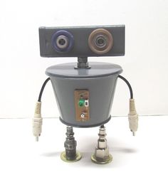 Found Objects Robot Sculpture / Assemblage Robot Figurine - One of a kind unique creation - Unique Gift by ROBOTSHOPandMORE on Etsy https://www.etsy.com/listing/466001170/found-objects-robot-sculpture-assemblage