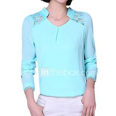 blouses lace- Online Shopping for blouses lace- Retail blouses lace from LightInTheBox - Page 4 Casual Chic, Casual Shirts, Chiffon, Tunic Tops, Wedding Dresses, Blouse, Womens Fashion, Sweaters, Vestidos