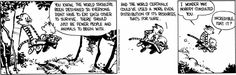 Calvin and Hobbes - exactly - they should consult me about things.
