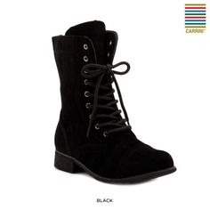 Carrini Lace-Up Boots - Assorted Colors