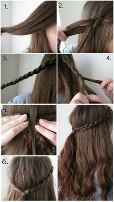 Quick Easy Braid Hairstyle Hair In 2019 Braided Hairstyles - easy hairstyles quick easy hairstyles for graduation Quick Braided Hairstyles, Easy Hairstyles For Medium Hair, Spring Hairstyles, Teen Hairstyles, Medium Hair Styles, Short Hair Styles, Hairstyle Braid, Easy Hair Styles Quick, Quick Hairstyles For School