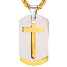 15 Best Cross Necklace For Fashion Men images in 2019  791b8c00fb66
