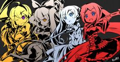 Image in RWBY collection by Shiemi-lee on We Heart It Rwby Fanart, Rwby Anime, Cool Wallpaper, Wallpaper Backgrounds, Red Like Roses, Rwby Ships, Blake Belladonna, Team Rwby, Rooster Teeth