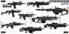 """Concept guns by Georgi """"Calader"""" Simeonov   2dgeek"""