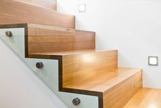 GORGEOUS stairwell. glass panel in lieu of bannister designed by @Sophie Burke Design