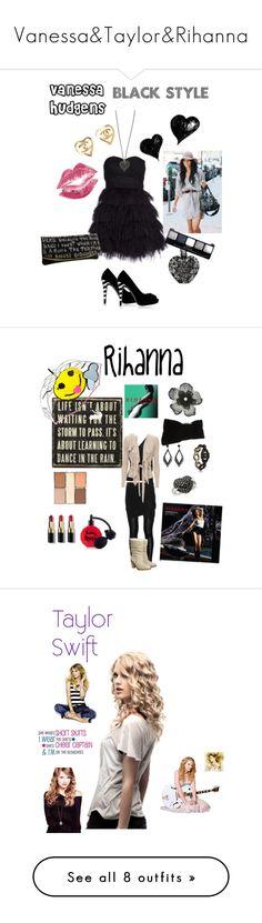 """Vanessa&Taylor&Rihanna"" by dorisnoc ❤ liked on Polyvore featuring Giuseppe Zanotti, Chanel, NYMPHENBURG, Gypsy05, Vera Wang, ULTA, art, F, LIZZY and aNYthing"
