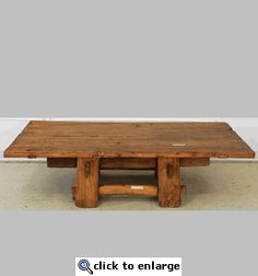 Asian Style Coffee Table Old Wood