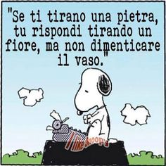 Il #saggio #snoopy ha sempre ragione. Tira un #fiore... e non dimenticare il #vaso!