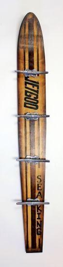 Best Vintage Wooden Water Ski W/hooks for sale - Size:100 X 14 X 7 CM
