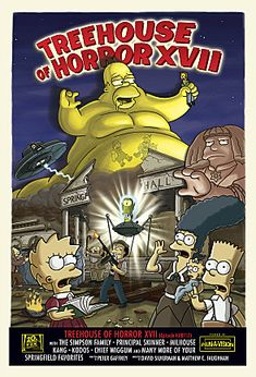 "For the continuing series of Halloween specials, see Treehouse of Horror series. ""Treehouse of Horror XVII"" is the seventeenth Treehouse of Horror episode and the fourth episode of Season Simpsons Episodes, The Simpsons Movie, Simpsons Art, Simpsons Cartoon, Chief Wiggum, Simpsons Halloween, Halloween Fun, Los Simsons, Image Internet"