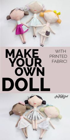 PRINTED DOLL FABRIC + tutorial!
