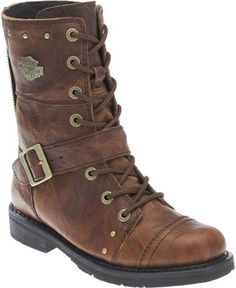 """Free shipping - Harley-Davidson Women's Lifestyle Monetta 7.75"""" Brown Motorcycle Boots D83860 - Womens/Footwear/Boots - Essentials/Footwear/Womens Footwear"""