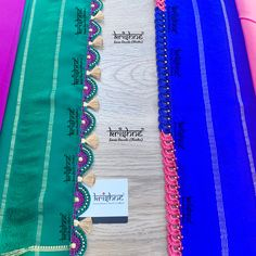 Customised Saree Kuchu & Pallu designs handcrafted to complement your precious silk sarees for celebrating your once in a life time events. Krishne's designer tassel kuchus are our premium offering that are crafted using a combination of handcraft techniques like Aari, Crochet, Hand Embroidery, Maggam, Zardozi etc and are in the price range of ₹ 500 ~ 6000.  Click www.krishnetassels.com/tassels to see all the kuchu types, price range & whatsapp +91 9916253832 or  to place your order.. Saree Tassels Designs, Saree Kuchu Designs, Mysore Silk Saree, Silk Sarees, Signature Design, Saree Wedding, Hand Embroidery, Crochet, Lace