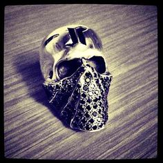 Anatomical Skull Ring Wearing Bandana