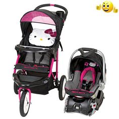 #cars The adorable #Baby #Trend Jogger Travel System switches from a walking stroller to a jogging one with just a lock of the wheel. Whether you stroll the urban...
