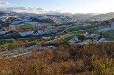 Paesaggio dei monti Sibillini visti da Camerino. foto Stefano Grilli