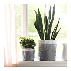KOLOKVINT Plant pot, set of 2, gray - IKEA