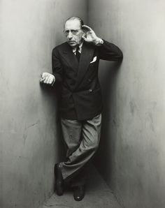 The great   Igor Stravinsky, New York, April 22, 1948. Photographed by Irving Penn.  Copyright Condé Nast Publications, Inc.  see: A recording session with Igor Stravinsky (The Soldier's Tale)   http://www.youtube.com/watch?v=8WADF20qiS0 and from Sydney Opera house grand finale: The Firebird - Stravinsky http://www.youtube.com/watch?v=kd1xYKGnOEw