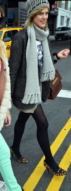 #minnie#scarf#coat#leopard