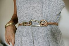 DIY Jewerly DIY Nautical Rope : DIY! Make a simple, stylish summer bel