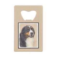 #Bernese Mountain Dog Credit Card Bottle Opener - #bernese #mountain #dog #puppy #dog #dogs #pet #pets #cute #bernesemountaindog