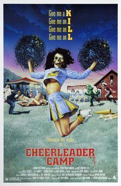 """Cartel película """"Chearleader Camp"""" 1988"""