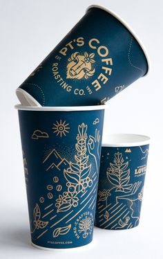 Carpenter Collective – A Design + Branding Studio Coffee Shop Branding, Coffee Shop Logo, Cafe Branding, Coffee Packaging, Coffee Cup Art, Coffee Cup Design, Paper Cup Design, Cafe Cup, Packaging Design Inspiration