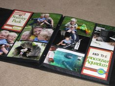 using photo albums as scrapbooks.