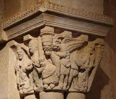 Matanza de los Inocentes - Capitel del Monasterio de San Juan de Duero, Soria