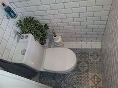 Stunning Understairs Toilet Idea Subway Victorian Tiles Pics Of Bathroom Designs Under Stairs Style And For Popular Bathroom Designs Under Stairs - Bathroom Design Contemporary Small Downstairs Toilet, Small Toilet Room, Downstairs Cloakroom, Small Bathroom, Porch With Toilet, Small Cloakroom Basin, Toilet Room Decor, Bathrooms, Understairs Toilet