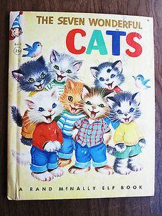 Vintage Rand McNally Elf Book The Seven Wonderful Cats Elizabeth Webbe RARE | eBay