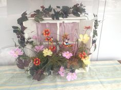秋桜アート、 窓際タイプ