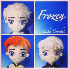 My Frozen amigurumi princesses Disney Elsa Anna crochet patterns