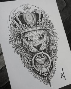 Discover recipes, home ideas, style inspiration and other ideas to try. Lion Tattoo Design, Tattoo Design Drawings, Tattoo Sleeve Designs, Tattoo Sketches, Tattoo Designs Men, Lion Head Tattoos, Body Art Tattoos, 3d Tattoos, Tattoo Ink