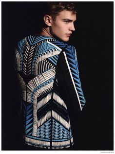 Fashion For Men: Bo Develius in Balmain Spring/Summer 2015 image Bo Develius Fashion For Men Bo Develius Balmain Men Spring Summer 2015 004