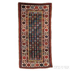 Talish Rug, Southeast Caucasus, late 19th century,  7 ft. 3 in. x 3 ft. 7 in.    Skinner Auctioneers Sale 2752B