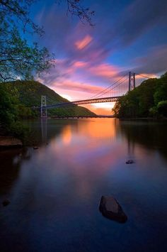 Bear Mountain Bridge seen from  Fort Montgomery  The Hudson Valley