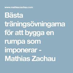 Bästa träningsövningarna för att bygga en rumpa som imponerar - Mathias Zachau