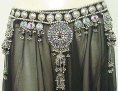 Kuchi BELT Belly Dance Hip Skirt Jewelry Tribal Boho NW