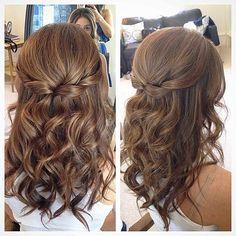 Image result for hair wedding half up half down