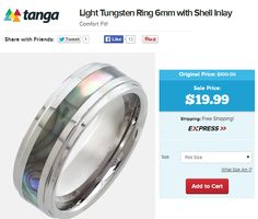 ► ► A Men's Tungsten Ring for just $20! HURRY HURRY!