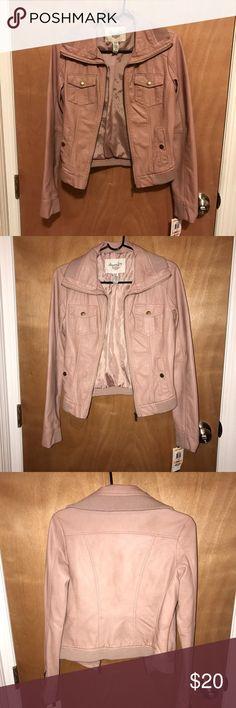 American rag jacket NWT American rag pleather Jacket. Small, misted rose American Rag Jackets & Coats Utility Jackets
