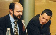Lalana y Almárcegui (dcha), en la presentación de un libro en 1997. -