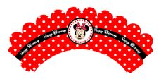 Minnie Mouse Party: Cupcake Wrappers.