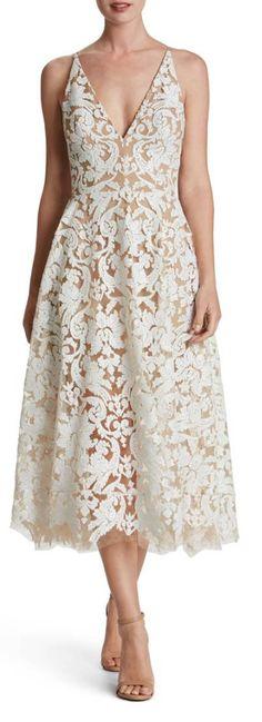 sequined overlay midi dress